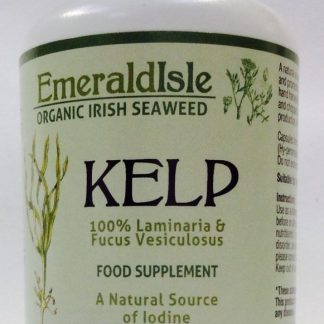 Kelp seaweed capsules a natural source of iodine