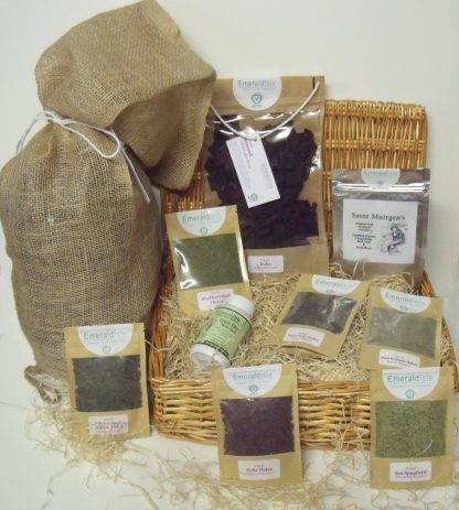 Hamper of sea herbs, bath and body seaweed powder, Dulse, Triple Blend Capsules and whole leaf seaweed bath